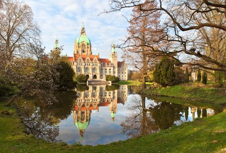 rathaus:  Neus Rathaus Hannover, The New Town  City Hall Stock Photo