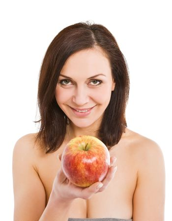woman and apple Stock Photo - 6094020
