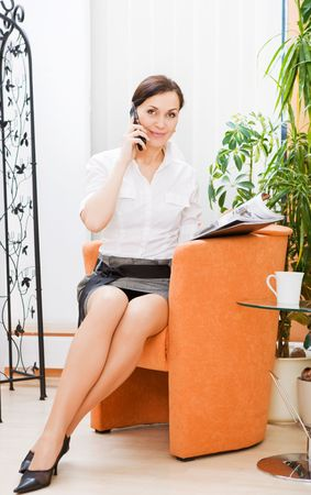 Beautiful businesswoman on the phone, photo