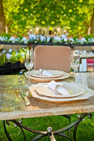 empty well decorated open air restaurant Stock Photo - 6331041
