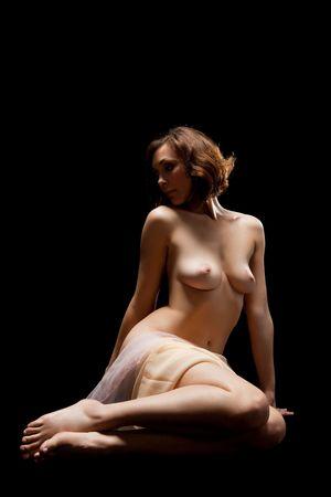 cuerpo de mujer sexy sobre negro Foto de archivo