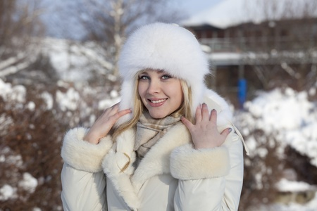 girl with snowflake photo
