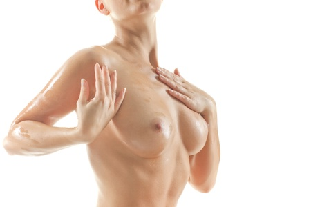 beauty breast: Young beautiful naked woman
