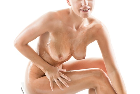 naked breast: Young beautiful naked woman