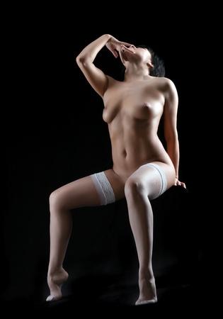 donne nude: donne nude su sfondo nero