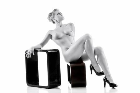 Elegant nude woman Stock Photo - 10190392