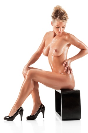 Young beautiful naked woman Stock Photo - 10284508