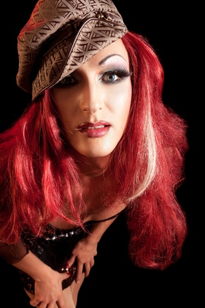 transsexual: Drag-Queen. Man dressed as Woman.