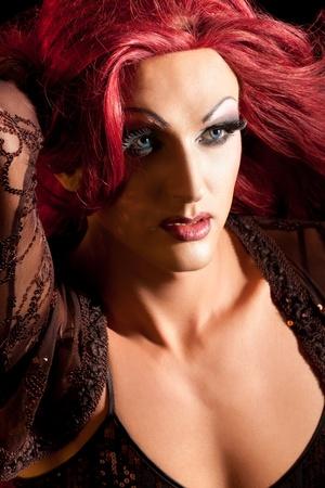 transexual: Drag-Queen. Hombre vestido de mujer.