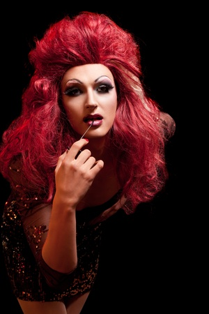 Drag-Queen. Man dressed as Woman. photo