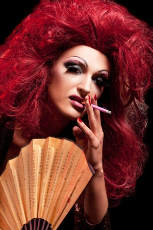 Drag-Queen. Man dressed as Woman. Stock Photo - 10291202