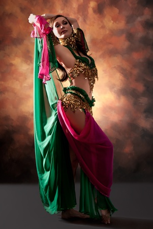 Beautiful exotic belly dancer woman Stock Photo - 10304593