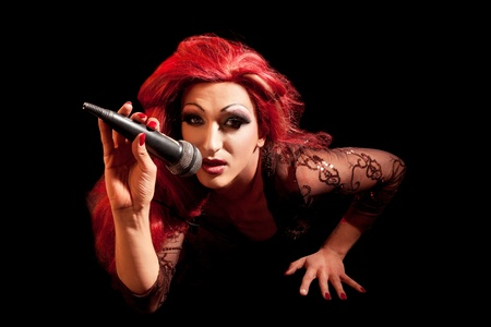 drag queen: Drag-Queen. Man dressed as Woman.