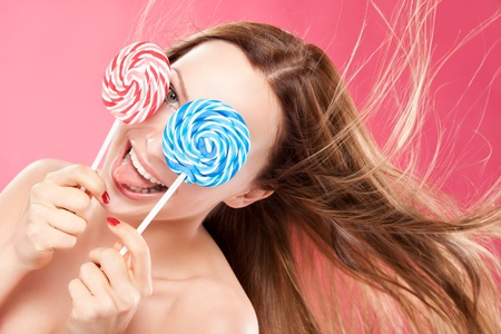 Girl with lollipop photo