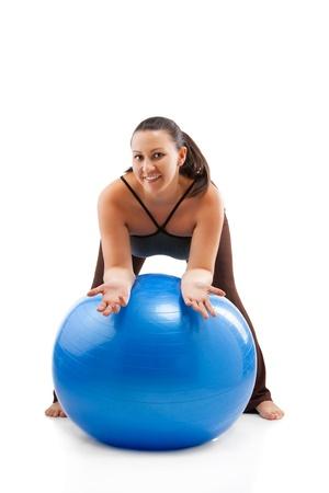 Pregnant woman doing exercises Stock Photo - 12871751