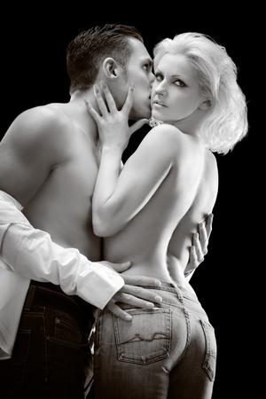 pareja desnuda: Moda Pareja desnuda Foto de archivo
