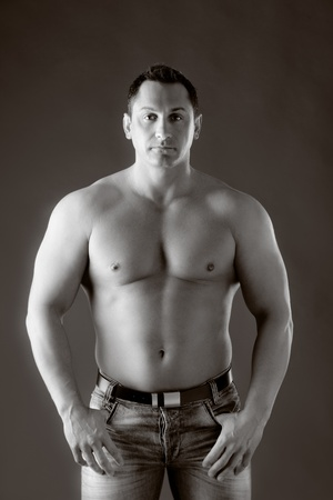 Adult muscular man photo