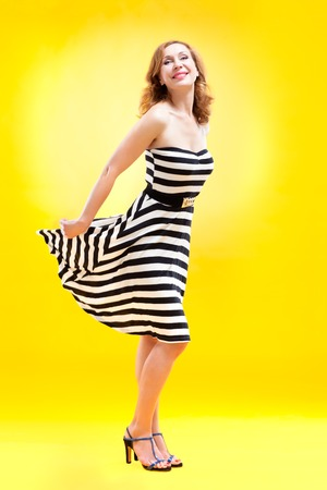 Pin-up girl in american style photo