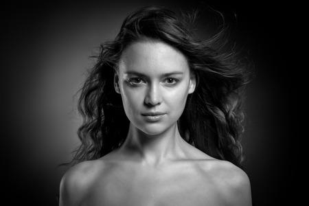 lowkey: Vogue style BW lowkey photo of sensual woman