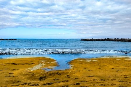 briny: Sea and Beach view at Tenerife island, Spain