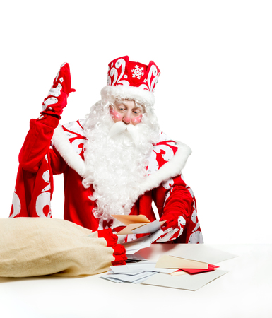 Santa Claus isolated on white background. Stock Photo