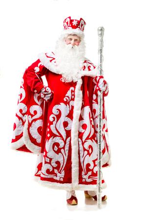 Santa Claus isolated on white background. Stock Photo
