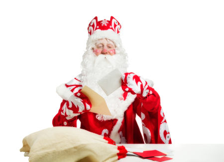 Santa Claus isolated on white background. Ded moroz 版權商用圖片
