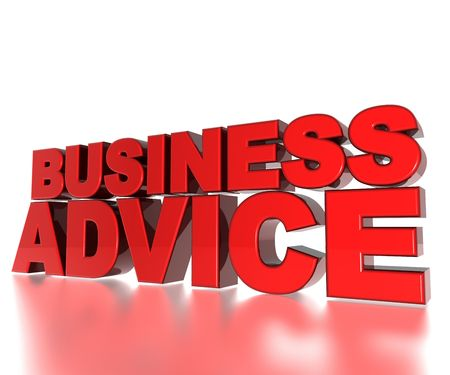 business advice: 3D Text Business Advice Stock Photo