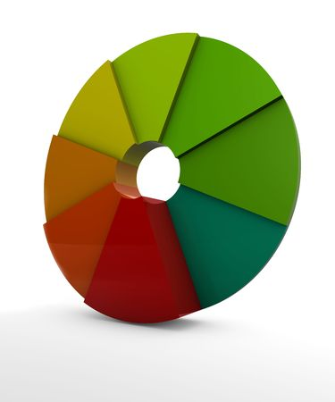 Visual of a pie chart Stock Photo