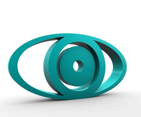 extruded: Estruso occhio verde