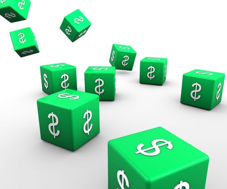 Dice with dollar sign photo