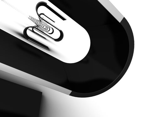 Abstract furniture design in black on white background Stock Photo
