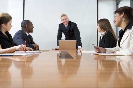 Co-travailleurs dans les affaires Banque d'images
