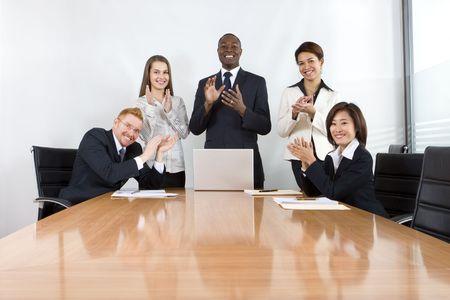 Co-workers in business meeting Zdjęcie Seryjne