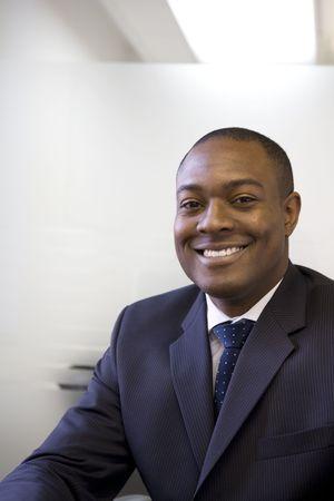 Portrait of businessman in suit photo