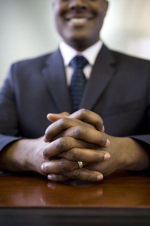 데스크 앉아 사업가 스톡 콘텐츠