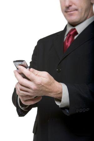 휴대 전화를 찾고 사업가 스톡 콘텐츠
