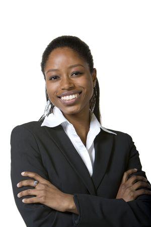 Ritratto di donna d'affari fiducioso