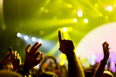 hands up during concert