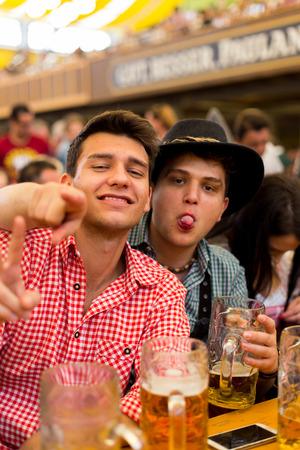german ethnicity: young boys celebrates Oktoberfest