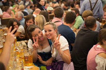 young girls celebrates Oktoberfest