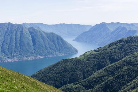 Como Lake landscape Standard-Bild