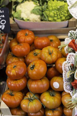 Tomatoes at the market Standard-Bild