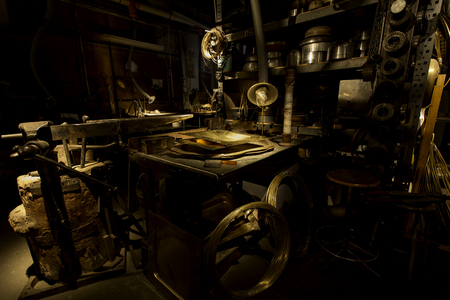 gold metal - machinery - workshop