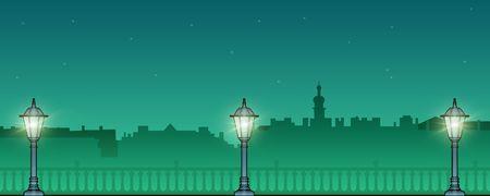 quay: Night quay of St. Petersburg