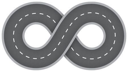 Infinity road photo