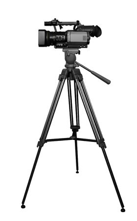 photo camera: Digital camera on tripod Stock Photo