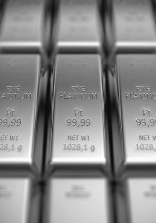 Platinum bars in stack