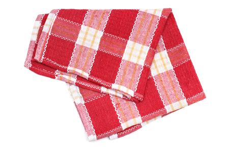 Kitchen towel napkin checkered pattern 스톡 콘텐츠