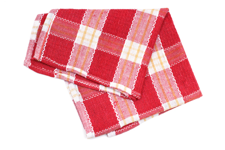 Kitchen towel napkin checkered pattern Foto de archivo